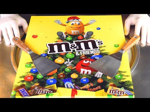 ASMR - m&m's Ice Cream Rolls | opening scratching and tapping fast aggressive ASMR Sounds - Food 4k