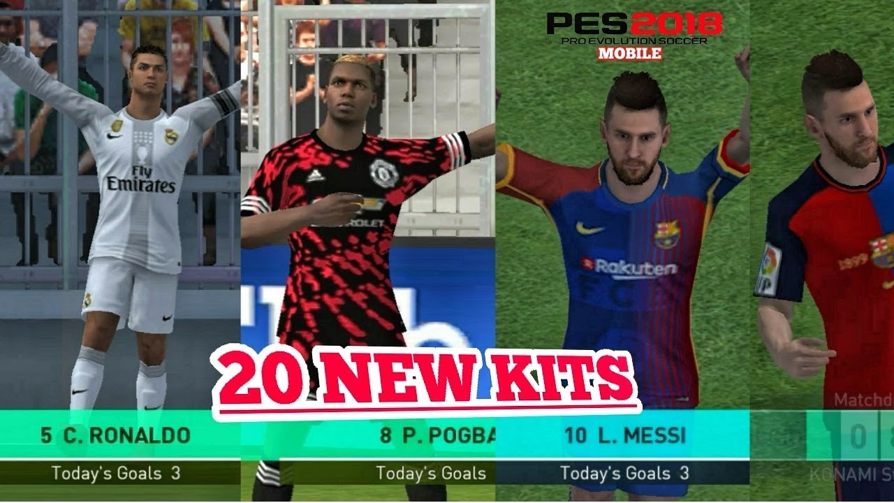 PES 2018 Mobile : New 20 Fantasy And classic Kits