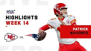 Patrick Mahomes Stuns Patriots w/ 283 Yds & 1 TD | NFL 2019 Highlights