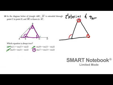 January 2019 Geometry Regents Video Answer Key #13-24
