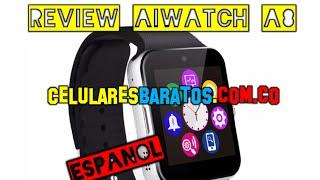 Review y Unboxing SMARTWATCH AIWATCH A8 GT08 en ESPAÑOL  Reloj inteligente y barato para ANDROID iOS