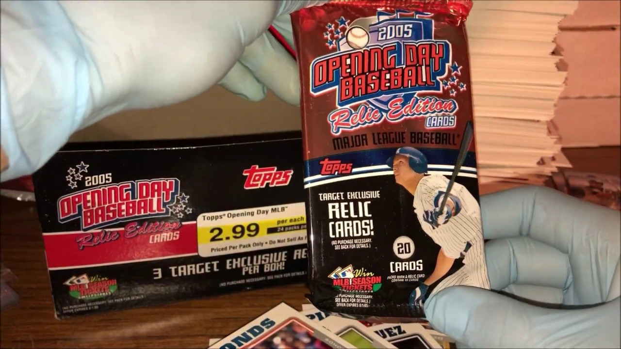 2005 Topps Opening Day Relic Edition Baseball Hobby Box Break Three Hits