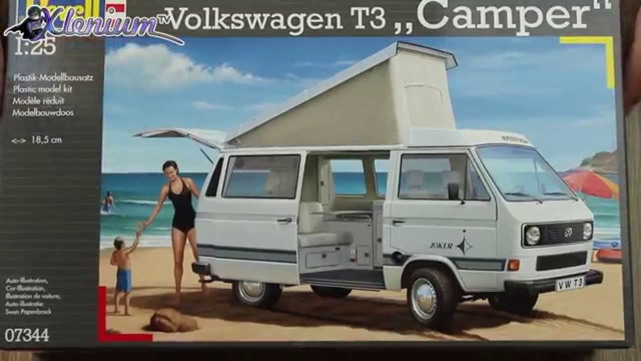 bausatzcheck revell volkswagen t3 camper westfalia m. Black Bedroom Furniture Sets. Home Design Ideas