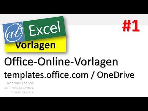 Excel Online - Vorlagen nutzen - Templates # 1