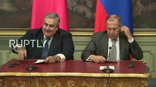 LIVE: Lavrov and Bahrain FM hold press conference in Moscow