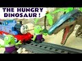 Funny Funlings feed the Jurassic World 2 hungry dinosaur with Thomas Train and Superheroes TT4U