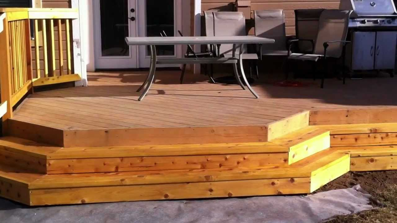 Installing deck stairs and steps Denver deck builder Part 3 - YouTube