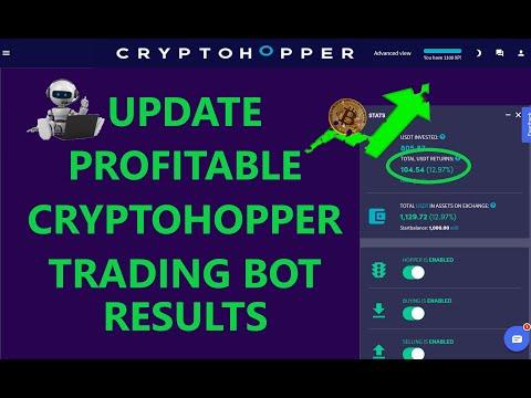 Profit Update CryptoHopper Bitcoin and Ethereum Automated Crypto Trading Bot RSI Strategy on Binance