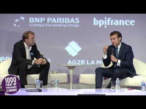 Quand Emmanuel Macron donner aux jeunes entrepreneurs envie d'avoir envie
