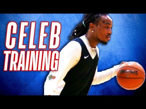 Quavo of Migos & Other Celebrities Train for 2018 NBA Celebrity Game