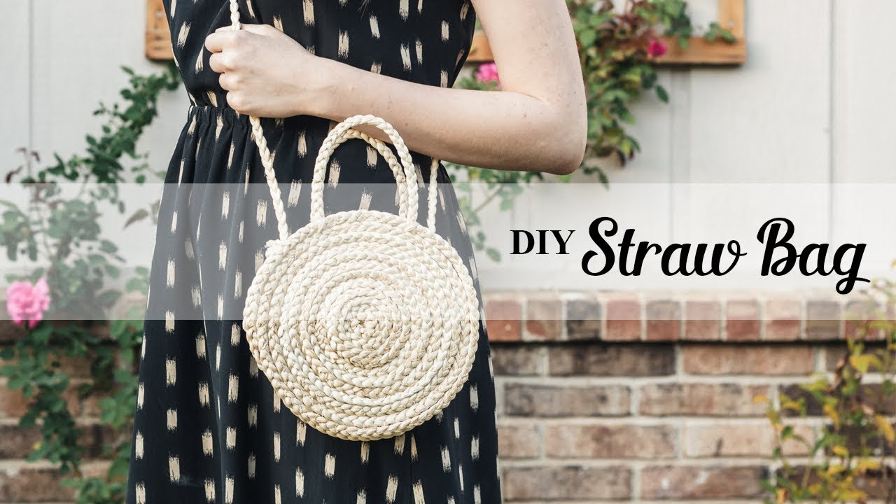 How To Make A Diy Straw Bag Youtube