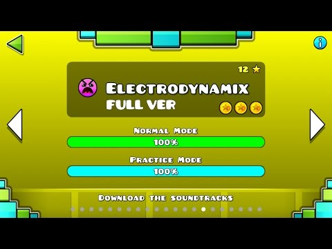 Geometry Dash - Electrodynamix (FULL VER) All Coin / ♬ Partition