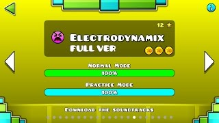 Скачать Geometry Dash Electrodynamix FULL VER All Coin Partition