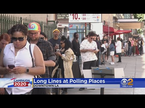 Long Lines Reported At Vote Centers Across Los Angeles County