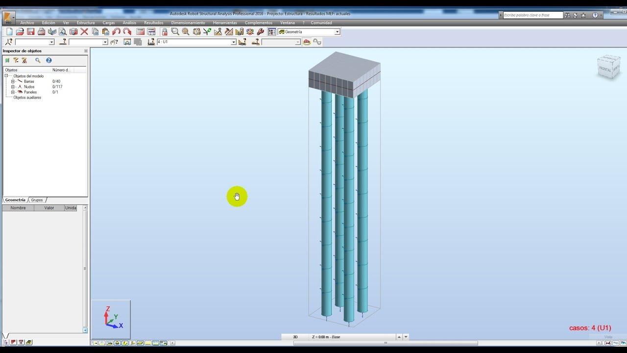 Robot Structural Castellano Tutorial 16 Analisis Y Diseño De Pilotes Piles