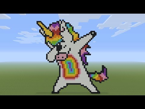Minecraft Pixel Art Dabbing Unicorn Youtube