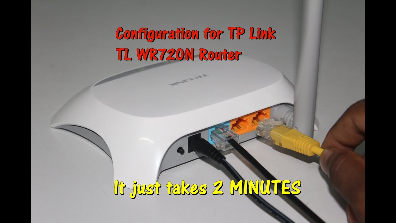 Configure TP Link wireless router - TL-WR720N in JUST 2 MINUTES