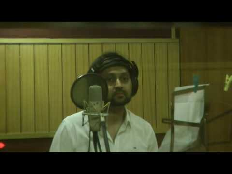 Sohom Chakravarty Singing in a Studio, Music Director Aroop Banerjee . Rimzhim Sangeet Duniya