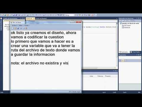 Como guardar información en un archivo bloc de notas (.txt) en Visual Basic.NET (tutorial)