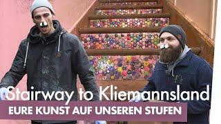 Bunte Kronkorken-Treppe bauen | Kliemannsland