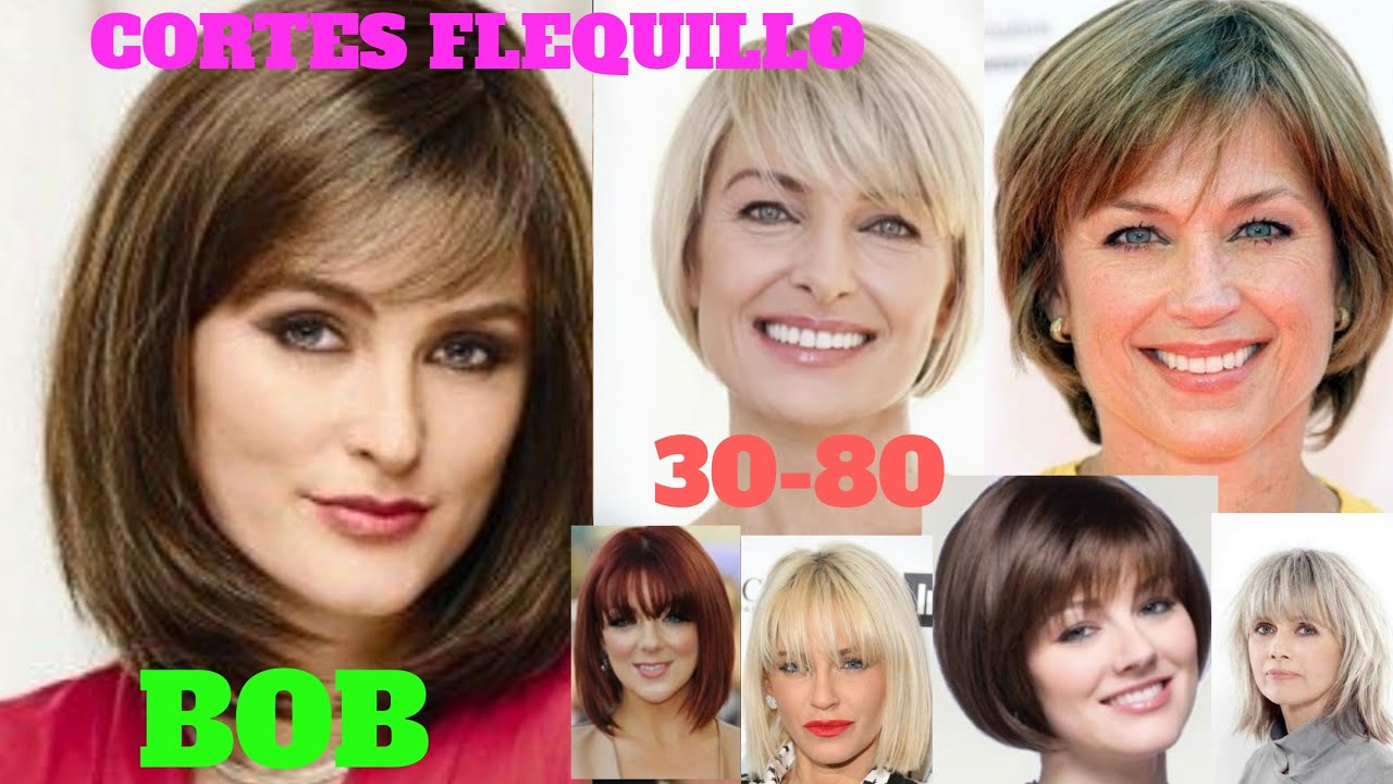 ♡CORTES DE PELO 2020♡BOB FLEQUILLO MUJER 30-80,CORTES DE CABELLO TENDENCIAS 2020