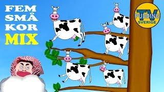 Fem små kor sitter i ett träd och mycket mer Svenska barnsånger