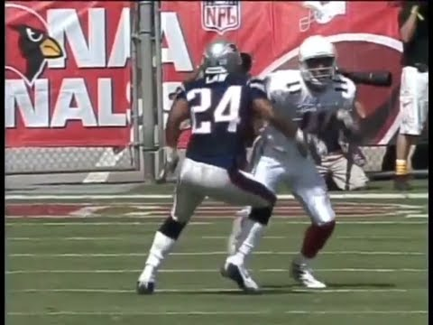 Larry Fitzgerald vs Ty Law (2004) | WR vs CB Matchup - Rookie and the Vet!