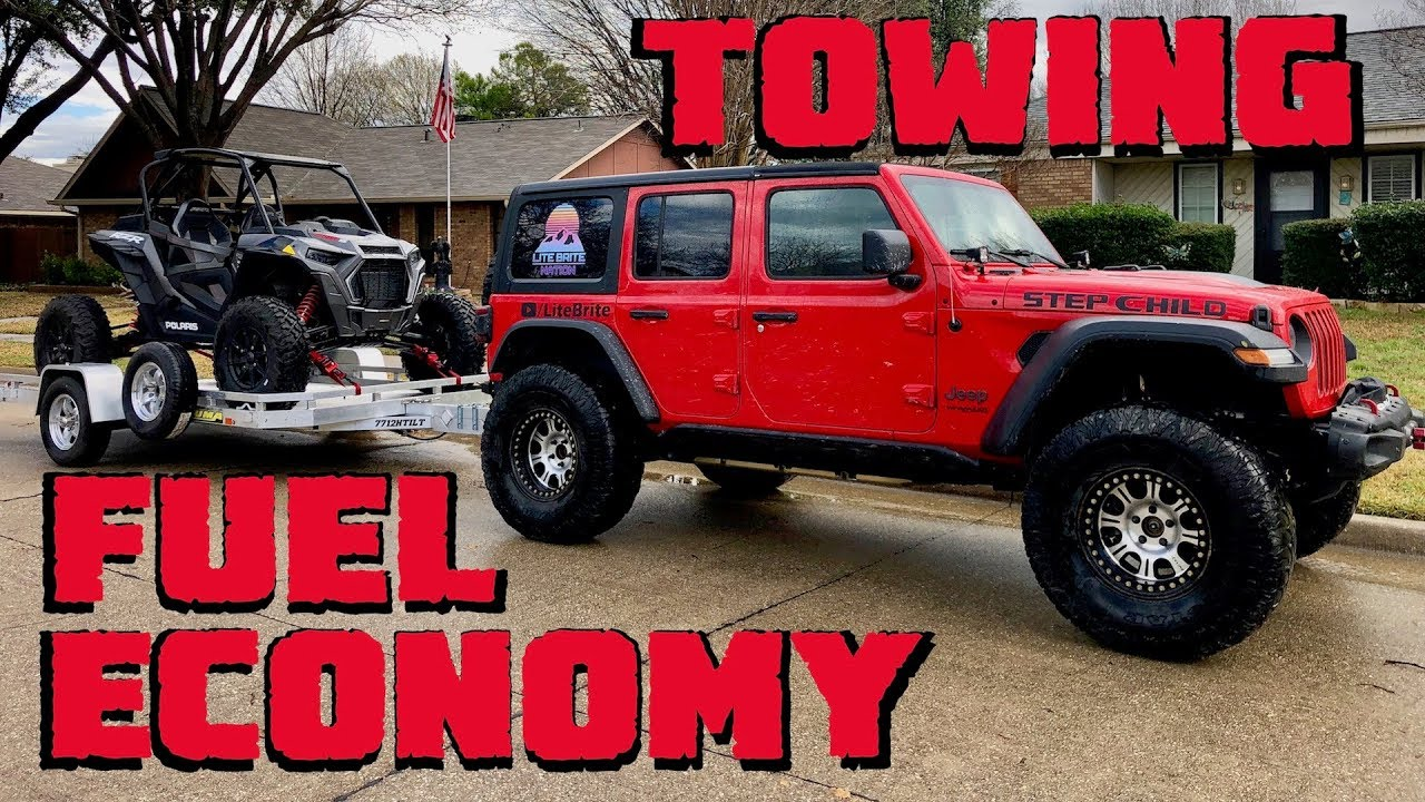 Fuel Economy Towing With Our 2018 Jeep Wrangler Jlu Rubicon Youtube