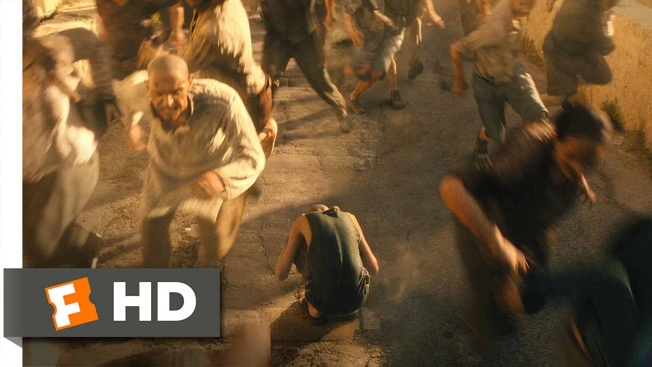 world war z 610 movie clip zombie stampede 2013 hd