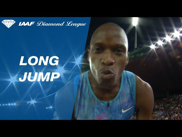 Luvo Manyonga Jumps 8.49 To Win the Men's Long Jump - IAAF Diamond League Zürich 2017