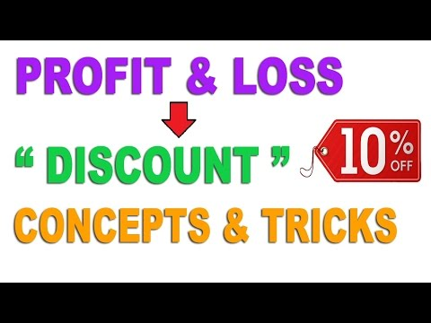 Profit and loss: Discount Word Problems - Hindi (2016)