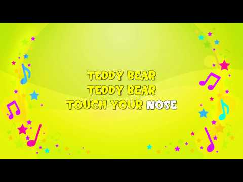 Teddy Bear, Teddy Bear | Karaoke | Action Song | Nursery Rhyme | KiddieOK