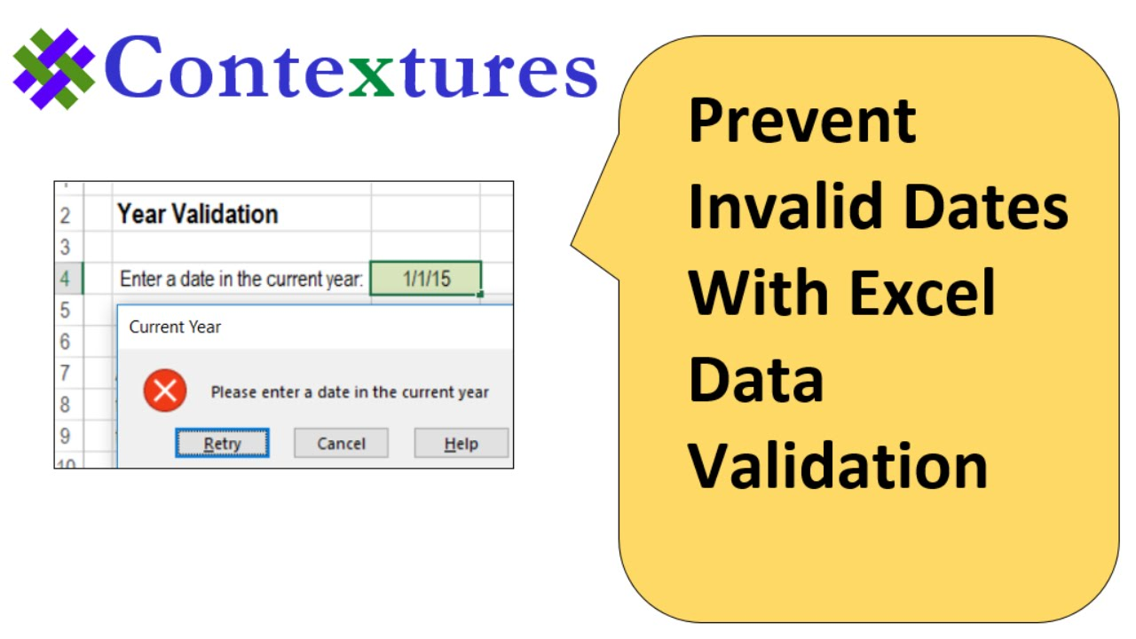 Excel Data Validation Dates
