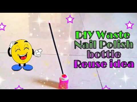 Best use of waste nail Polish bottle craft idea | Diy nail Polish life hack | cool craft idea