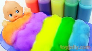 Learn Colors Baby Doll Color Foam Bubble Bath Time Kinder Suprise Eggs Kids Toys Baby Finger Song