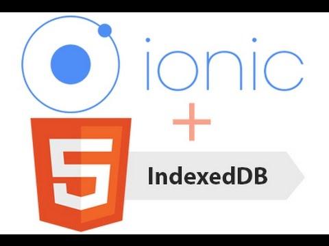 Ionicframework - Simple recipe book app using IndexedDB
