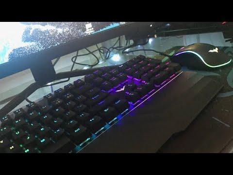 Havit Mechanical Keyboard And Mouse Combo Unboxing (HAVIT KB389L)