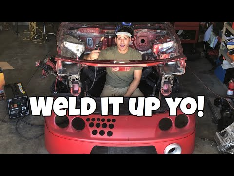 (WELDING ENGINE BAY HOLES SHUT) How To Shave An Engine Bay || PART THREE