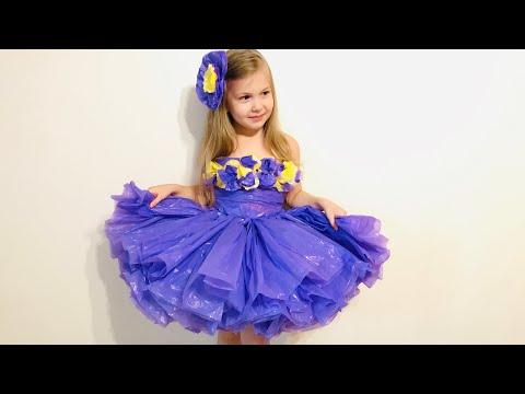 Платье из мусорных пакетов для девочки своими руками мастер класс