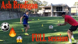 FULL training session with WPL player Ash Brodigan - Soccer Drills - Joner 1on1