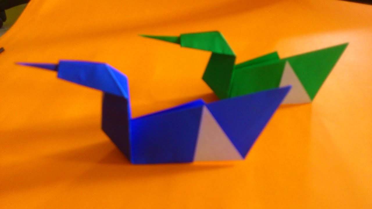 Cara Membuat Origami Angsa Sederhana Origami Binatang