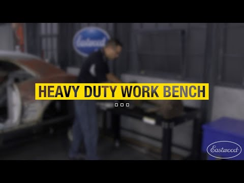 Garage Must-Have - Heavy Duty Steel Shop Work Bench - Holds up to 1600 lbs! Eastwood