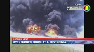 Mobile Police: Tanker truck driver died in wreck, fire - NBC 15 News, WPMI