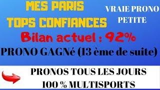 PARIS SPORTIFS : MON PRONO TENNIS VRAIE PEPITE -MASCULIN- TOP CONFIANCE (TOURNOI DE BALE)