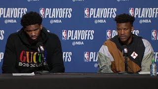 Joel Embiid & Jimmy Butler Postgame Interview - Game 7 | 76ers vs Raptors | 2019 NBA Playoffs