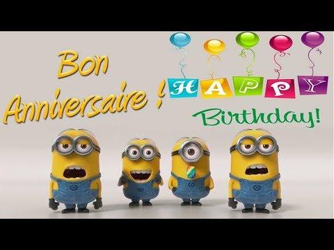 Minions - Joyeux Anniversaire/Happy Birthday