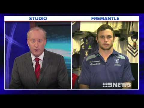 Ballantyne discusses the Dockers v Collingwood clash on Nine News