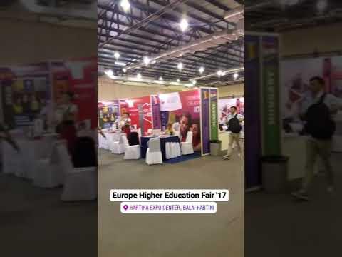 Suasana Europe Higher Education Fair (EHEF) 2017 di Balai Kartini Jakarta