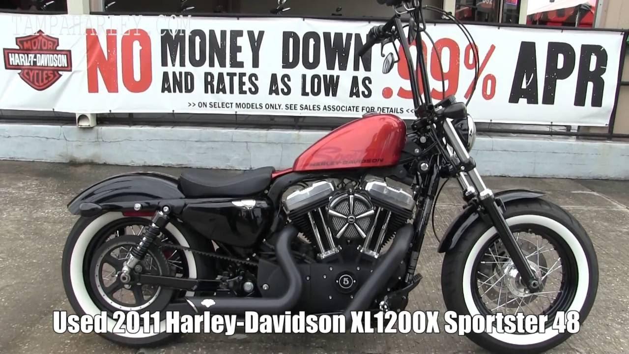 2011 Harley Davidson Sportster 48 Ape Hangers Vance And Hines Exhaust