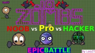 EPIC BATTLE NOOB vs PRO vs HACKER Zombs.io by LeeZY | Zombs.io Wave 1000+
